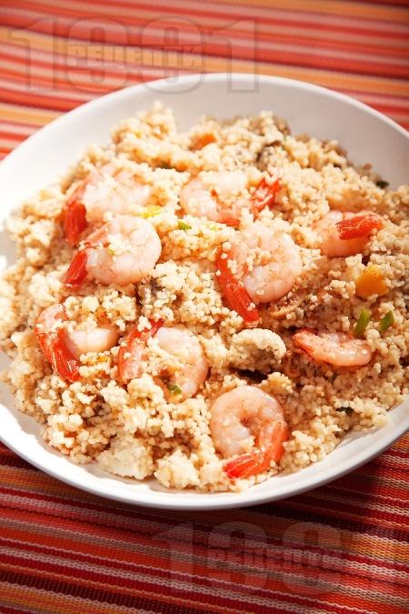 Кус-кус със скариди и патладжан - снимка на рецептата